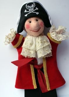 Needle felted Pirate puppet by Laura Lee Burch