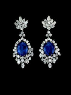 3bd1cd178 Sapphire Earrings Blue Wedding Earrings Bridal Earrings Blue Wedding Jewelry…  Sapphire Stud Earrings in White Gold