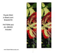 Peyote Stitch or Bead Loom Bracelet Pattern - Exotica 1 Pattern for Bead Loom or Peyote Stitch Bracelet by PalacePatterns on Etsy