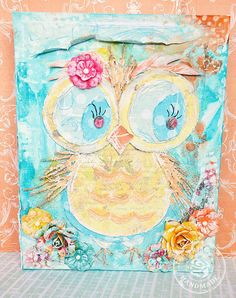 Altered canvas by Stacey Young for Prima