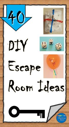 40 escape room ideas for kids or even adults. DIY escape room puzzles and ideas using materials from around your house to create an escape room your players won't soon forget. Escape Room Diy, Escape Room For Kids, Escape Room Puzzles, Kids Room, Mystery Escape Room, Indoor Activities, Learning Activities, Activities For Kids, Indoor Games