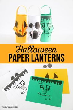 Halloween Paper Lantern Prints | Halloween Paper Lantern Printables for kids to make at a fun halloween class party! Kids will love creating their own Halloween Paper Lantern! #halloweenprintable #hallowenparty #halloweenclassparty Halloween Class Party, Fun Halloween Crafts, Halloween Lanterns, Halloween Projects, Diy Halloween Decorations, Halloween Kids, Halloween Themes, Halloween Sewing, Fall Crafts