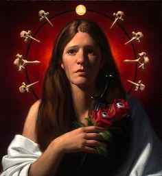 Saint Lucy / Santa Lucía // By Neilson Carlin Catholic Art, Catholic Saints, Sankta Lucia, Different Aesthetics, Art Icon, Ap Art, Sacred Art, Christian Art, Christmas Carol