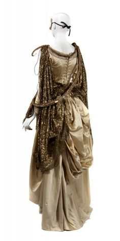 "A The Phantom of the Opera (Warner Bros., 2004) masquerade ball costume. Deborah Marchant Costumes label in blouse reads ""Production: Phantom/ Name: Snake Charmer."""