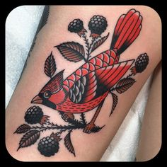 Amazing cardinal tattoo