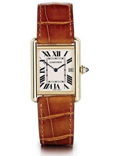 Classic Louis Cartier Tank watch.