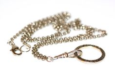 Ornate Silver Lanyard. Convertible Eyeglass by EyeglassChainsEtc