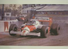 Painting of the grand prix in Monaco