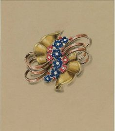 Van Cleef & Arpels - Attributed to René-Sim Lacaze,Study for an important necklace, 1935-41. © Sotheby's LONDON- From...