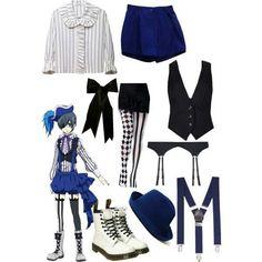 Book Of Circus Black Butler Ciel Outfit Cosplay Diy, Casual Cosplay, Cosplay Outfits, Anime Outfits, Anime Cosplay, Anime Inspired Outfits, Character Inspired Outfits, Themed Outfits, Black Butler Cosplay