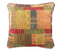 Cuscino arredo misto cotone Scottish terracotta - 43x43 cm