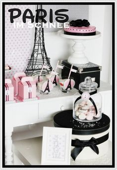 parin-in-snow-birthday-party-pink-black-decorations-ideas-cupcakes-french-parisan.JPG (549×800)