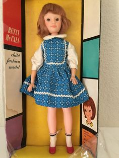 "Vintage 1963 Betsy McCall Child Fashion Model 11 1/2"" Doll UNEEDA In Box *READ* #UneedaExclusivelyforMcCalls #DollswithClothingAccessories"