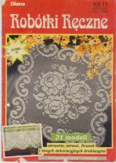 MAGAZINE: Robótki Reczne crochet magazine ♥LCB-MRS♥ with diagrams. Filet work. Knitting Magazine, Crochet Magazine, Crochet Books, Crochet Doilies, Filet Crochet, Knit Crochet, Book Crafts, Diy And Crafts, Diana