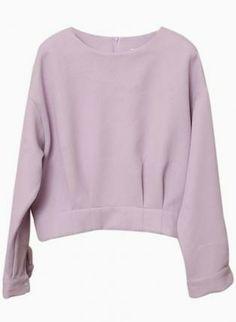 Lavender Long Sleeve Darted Sweater #ustrendy #spring #pastel #feminine