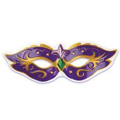 Mardi Gras Mask Plastic Cake Topper