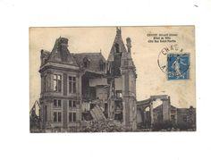 CPA  - CHAUNY (02) - HOTEL DE VILLE COTE RUE SAINT MARTIN - RUINES 14-18 - 1923