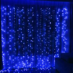 Christmas Lights Ideas - Twinkle Star 300 LED Window Curtain String Light for Christmas Wedding Party Home Garden Bedroom Outdoor Indoor Wall Decoration(Blue)