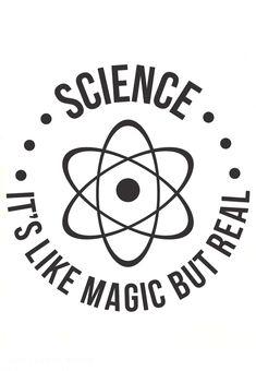 RedYolk 'SCIENCE: C'est comme par magie, mais réel' Sticker – Wissenschaft Science Puns, Science Fair, Science Education, Science Experiments, Chemistry Jokes, Funny Science Quotes, Life Science, Dna Facts, Middle School Science