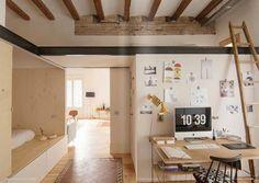 El clásico piso del Eixample de Barcelona transformado en un acogedor 'loft' | Maria victrix