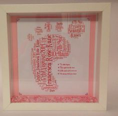 New baby 10 x 10 black or white shadow box £23 Any colour words for & 10 x 10 shadow box black or white Any colour words £23 ... Aboutintivar.Com