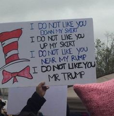 Funniest Women's March Signs From Around the World: Dr. Seuss Protest