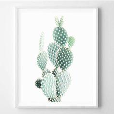 Cactus print Desert art Minimalist Nature photo by WallArt2Decor