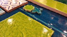 """Qualcuno ha detto """"smalto""""? Effetto craquele e verde prato. Sembra di stare al mare! Da Cotto Vietri, pad. 22  #Cersaie2015 #MCaroundCersaie"""