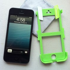 iPhone 5 with Screen Shield pre-loaded into the Perfect Fit Applicator