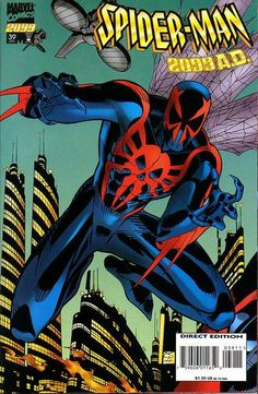 Spider-Man 2099 (Brothr's Keeper): Spider-Man 2099 is a trade paperback, newsstand edition. Comic Book Covers, Comic Books Art, Comic Art, Comics Spiderman, Marvel Comics, Marvel 2099, Marvel Costumes, Cartoon Photo, Amazing Spiderman