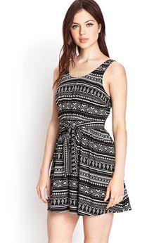 Tribal Print Fit & Flare Dress | FOREVER21 - 2000061595