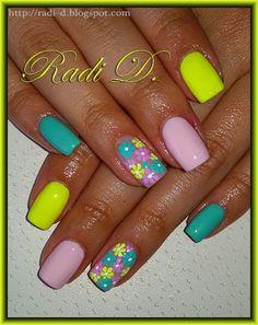 It`s all about nails: Flowers Garden http://radi-d.blogspot.com/2014/09/flowers-garden.html