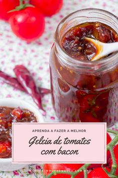 Bacon Tomato Jam, Sauce Recipes, Cooking Recipes, Big Chefs, Tasty, Yummy Food, I Love Food, Food Inspiration, Food Porn