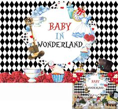 Alice in Wonderland Baby Shower Photography Backdrop; Baby in Wonderland; Fun To be One Birthday photo scene setter; backdrops scene setters by SimplyCreatedForYou6 on Etsy Fairy Photography, Baby Shower Photography, Background For Photography, Tea Party Supplies, Winnie The Pooh Themes, Glitter Backdrop, Glitter Images, Scene Setters, Tea Party Baby Shower