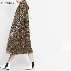 Purebliss 2017 women winter leopard plus size 4XL fur long blend oversized coat. Yesterday's price: US $139.98 (113.59 EUR). Today's price: US $71.39 (57.93 EUR). Discount: 49%.