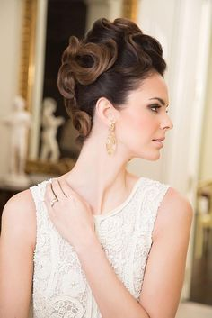 Updos on pinterest salons updo and beehive for A touch of elegance salon