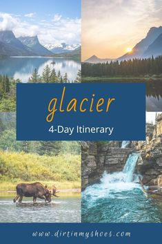 Take the trip to Glacier National Park that your family can't stop talking about! More than a travel guide, this itinerary will take you through Glacier hour-by-hour, so you don't spend your vacation trying to find things to do in the park! Whether you'll be hiking with kids, camping with families, or are on a solo photography adventure, we'll hit your bucket lists hard! This itinerary is your key to a fun and memorable road trip without all the planning! Beautiful Places To Visit, Cool Places To Visit, Places To Travel, Hiking With Kids, Amazing Destinations, Bucket Lists, Dream Vacations, Travel Guide, Families