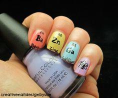 Element Art. Nails for geeks. #geeknail_art