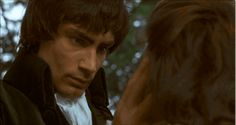 Timothy Dalton as Heathcliff with Anna Calder- Marshall as Cathy in the 1970 film adaptation of Wuthering Heights (gif)