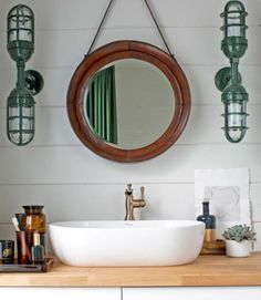 Before & After: A Cabin Bathroom Gets Classy — Country Living | Apartment Therapy