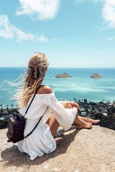 travel idea hawaii The ultimate Oahu, Hawaii Travelguide - Best beaches, hotels, food. Summer Vacation Outfits, Hawaii Vacation, Hawaii Travel, Oahu Hawaii, Hawaii Hotels, Hawaii Outfits, Vacation Travel, Beach Travel, Mexico Travel