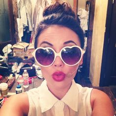 We love these sunnies on Pretty Little Liars star Janel Parrish! Everyone needs a pair of fun sunglasses!