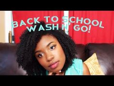 Easy Back to School Natural Hair Look - Subscribe to Smoothiefreak on YouTube