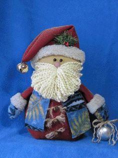 "me ~ Santa pattern: ""Ho, Ho, Ho"" - Snowman Christmas Decorations, Christmas Ornament Crafts, Christmas Sewing, Christmas Snowman, Christmas Crafts, Christmas Pics, Miniature Christmas, Father Christmas, Christmas Holidays"