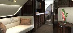 Posh Private Jet: Embraer Lineage's New Airplane Design Jets Privés De Luxe, Luxury Jets, Luxury Private Jets, Private Plane, Skyline Gtr, Lamborghini Gallardo, Aston Martin, Maserati, Mazda
