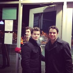 OBB going outside to play for some people who couldnt get into Winter Jam