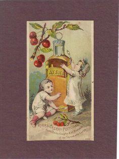 Babies w Bottle of Ayer's Cherry Pectoral Quack Medicine Trade Card C1880 | eBay