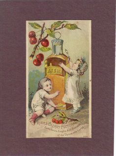 Babies w Bottle of Ayer's Cherry Pectoral Quack Medicine Trade Card C1880 | eBay