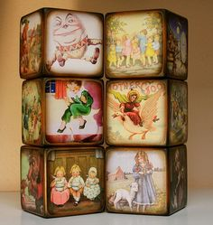 Nursery Rhymes Blocks  Mother Goose by ChickenDoodles on Etsy