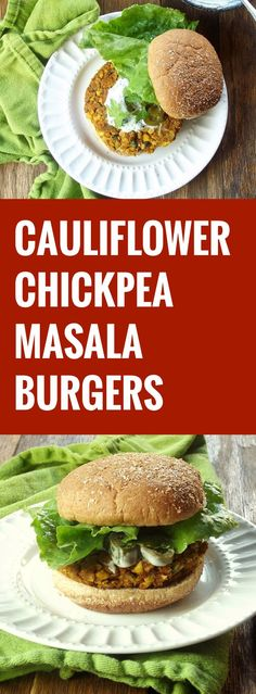 Cauliflower Chickpea Masala Burgers and a Free Veggie Burger E-Book